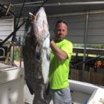 big grouper caught on the one mo time fishing adventures boat